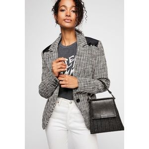 Free People Rodeo Houndstooth Blazer, S
